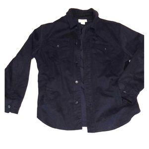Quilted Navy Shirt Jacket